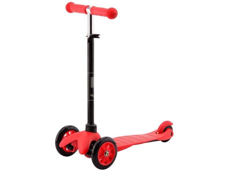 kép nagyítása Háromkerekű roller - piros, 68 cm