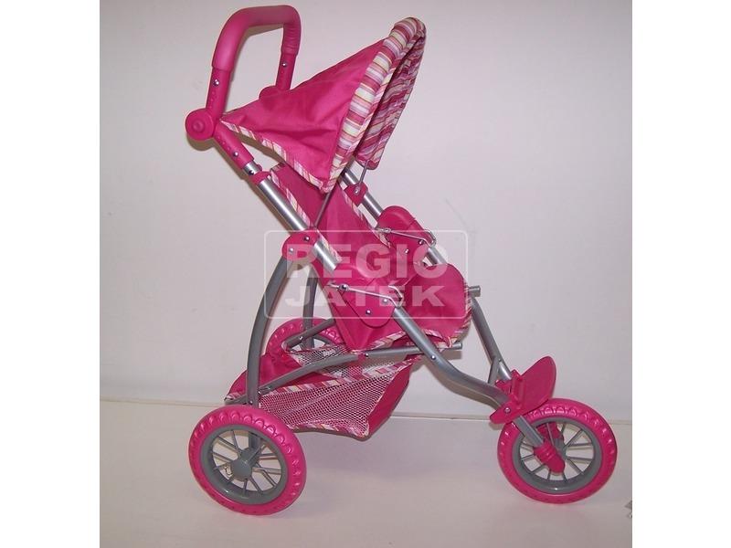 kép nagyítása Háromkerekű sport babakocsi - rózsaszín