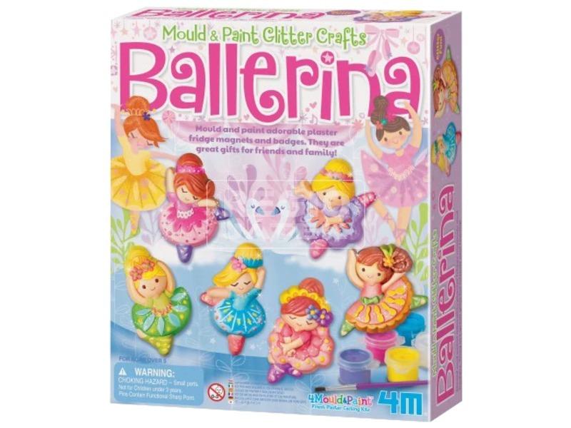 4M csillogó balerina gipszkiöntő készlet