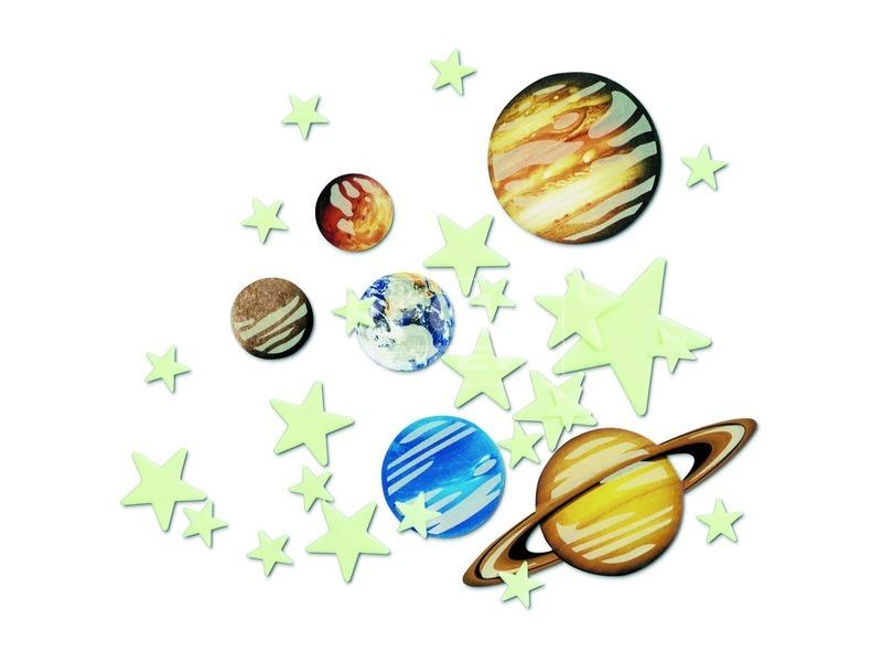 kép nagyítása 4M sötétben világító bolygó és csillag készlet