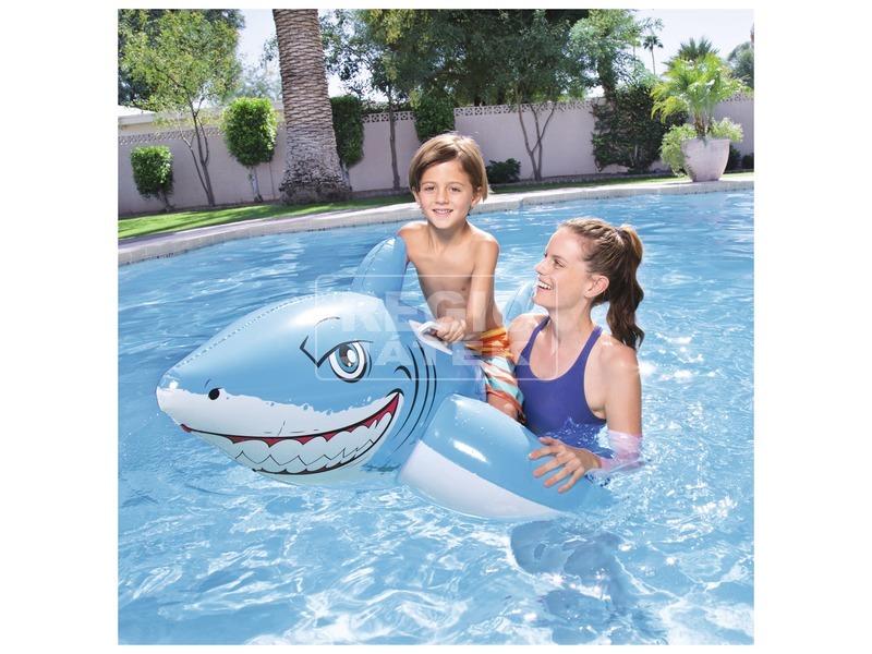 kép nagyítása Bestway 41032 Fehér cápa lovagló - 185 x 102 cm