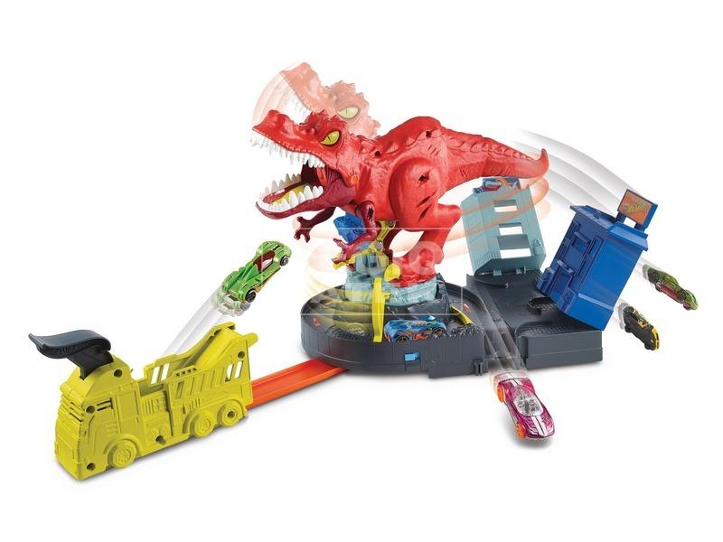kép nagyítása Hot Wheels - őrjöngő T-rex pályaszett