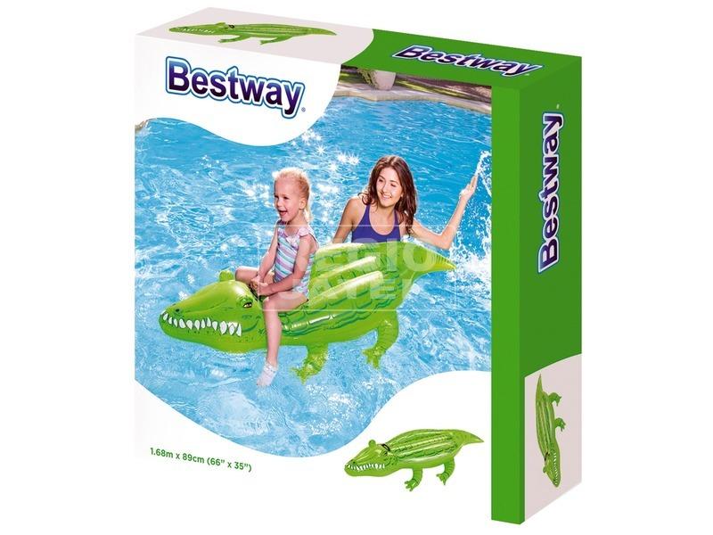 Bestway 41010 Krokodil hullámlovagló - 168 x 89 cm