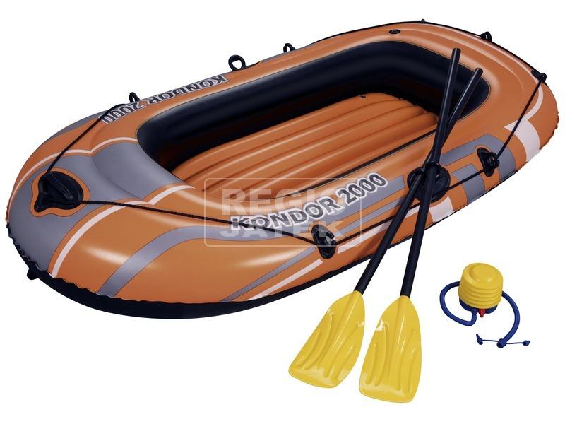 Bestway felfújható csónak evezővel és pumpával 198 x 122cm