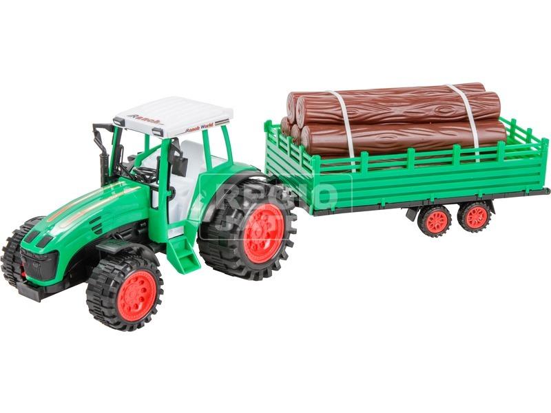 Rönkszállító traktor utánfutóval - 52 cm, többféle