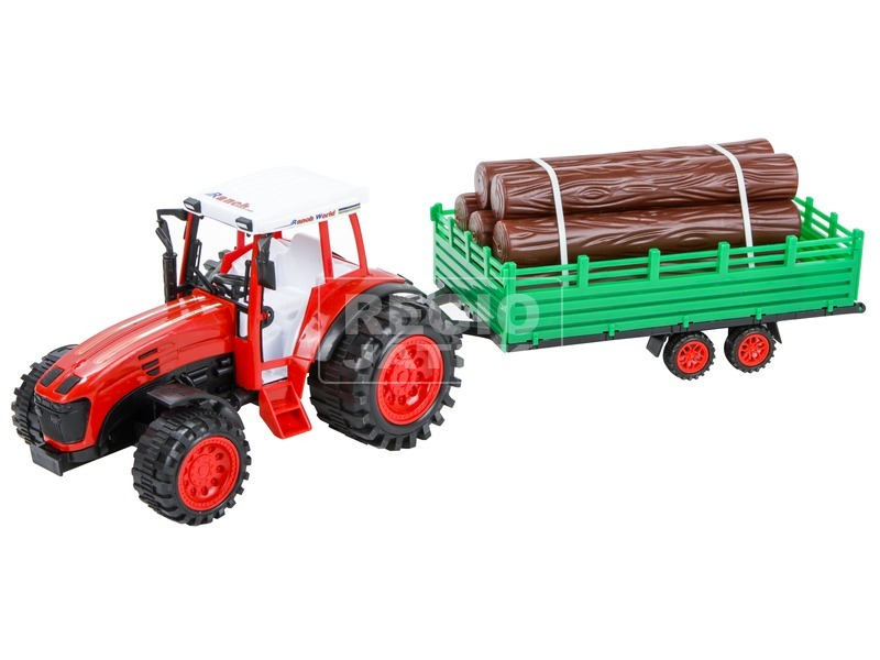 kép nagyítása Rönkszállító traktor utánfutóval - 52 cm, többféle