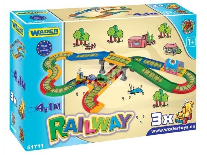 Wader Kid cars Vasútpálya híddal (4, 1m)
