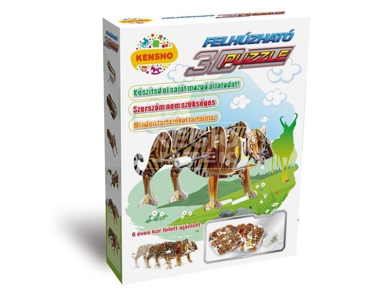 Tigris felhúzós 3D puzzle