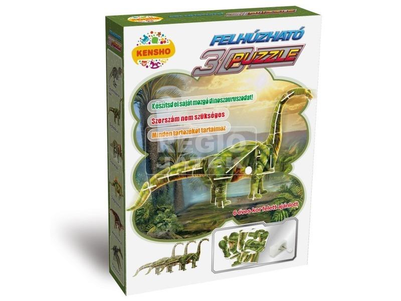 Diplodocus dínó felhúzós 3D puzzle