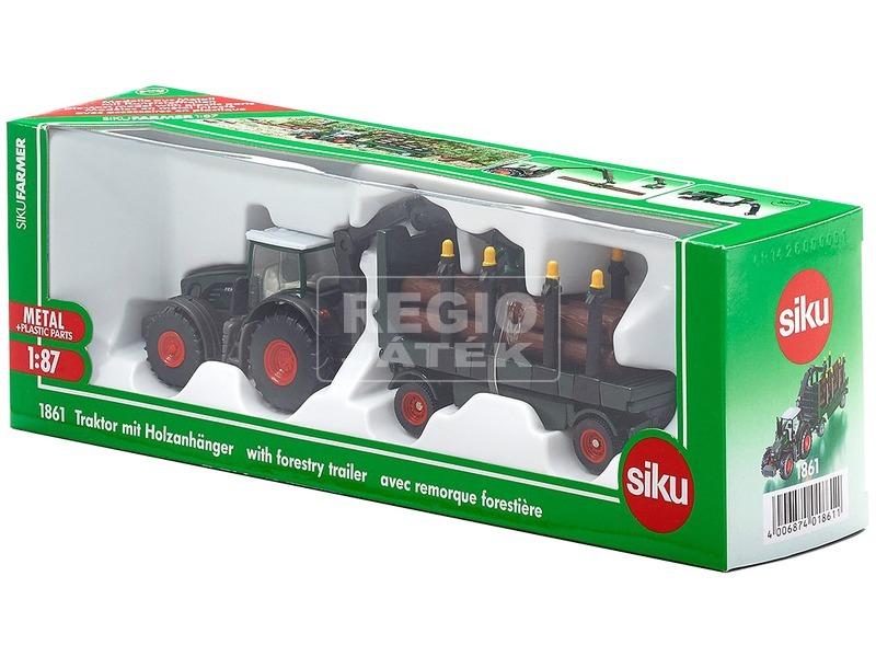 SIKU: Fendt traktor rönkszállítóval 1:87 - 1861