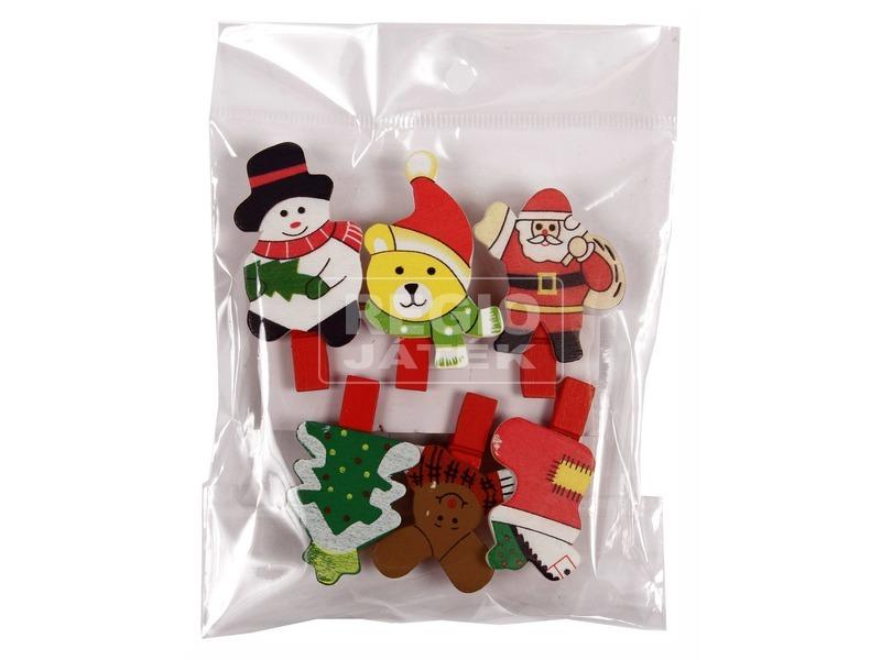 Karácsonyi csipesz 6 darabos készlet