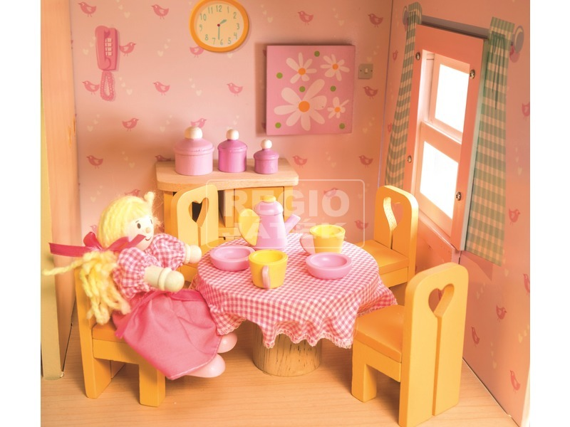 kép nagyítása Le Toy Van: Étkező fa bababútor készlet