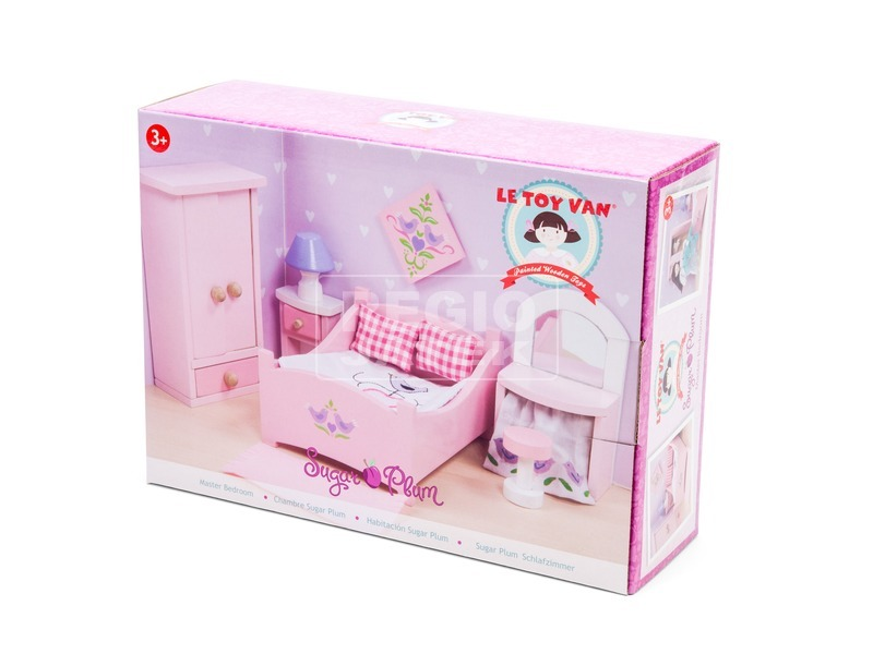 Le Toy Van: Hálószoba fa bababútor készlet