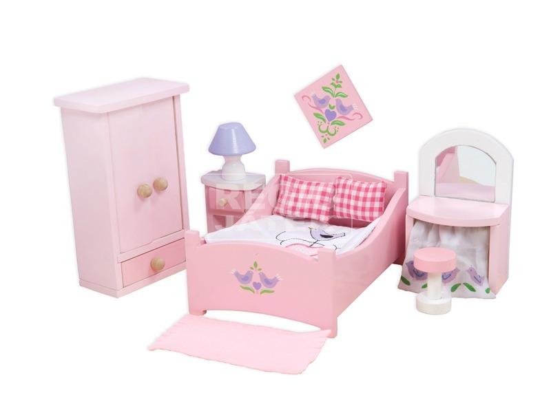 kép nagyítása Le Toy Van: Hálószoba fa bababútor készlet