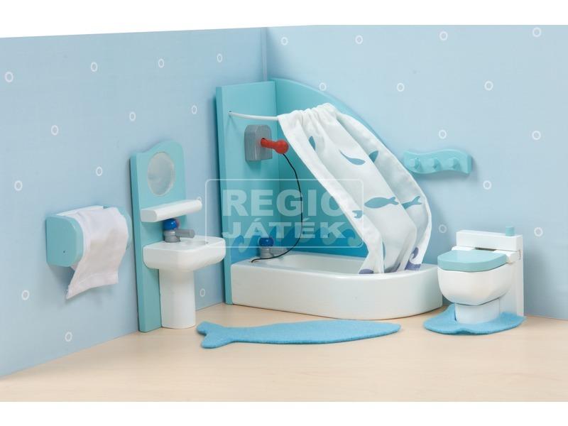 kép nagyítása Le Toy Van: Fürdőszoba fa bababútor készlet