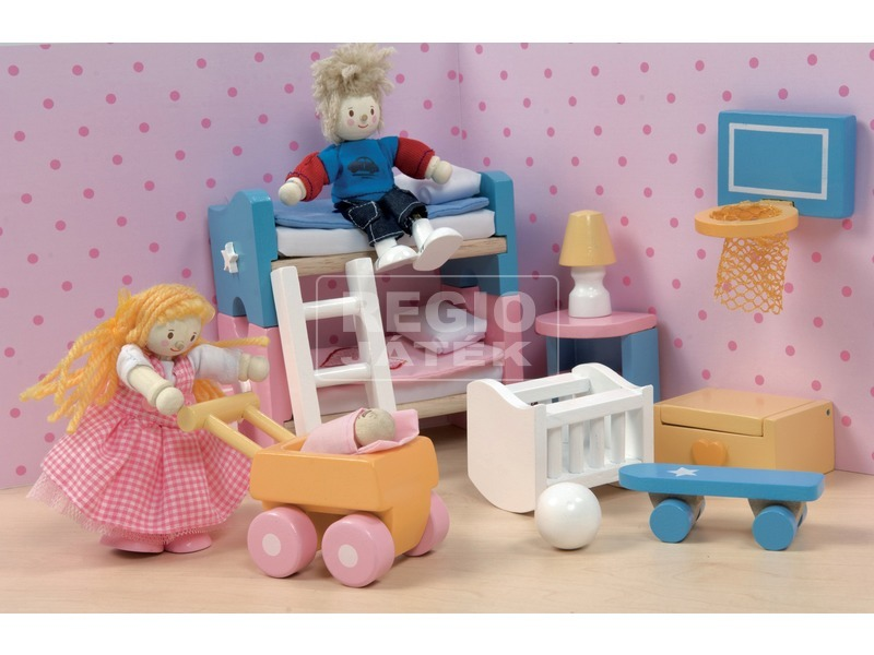 kép nagyítása Le Toy Van: Gyerekszoba fa bababútor készlet
