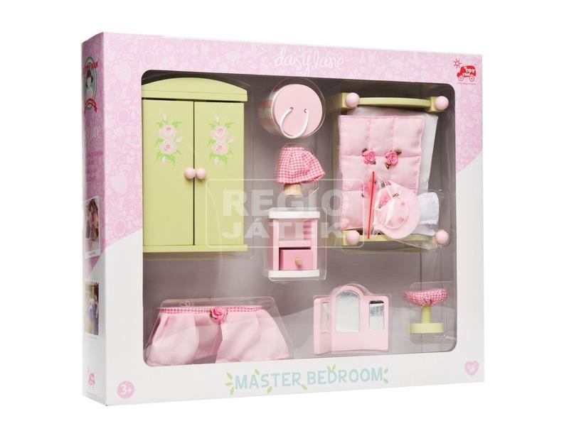 Le Toy Van: Rózsabimbó hálószoba fa bababútor készlet