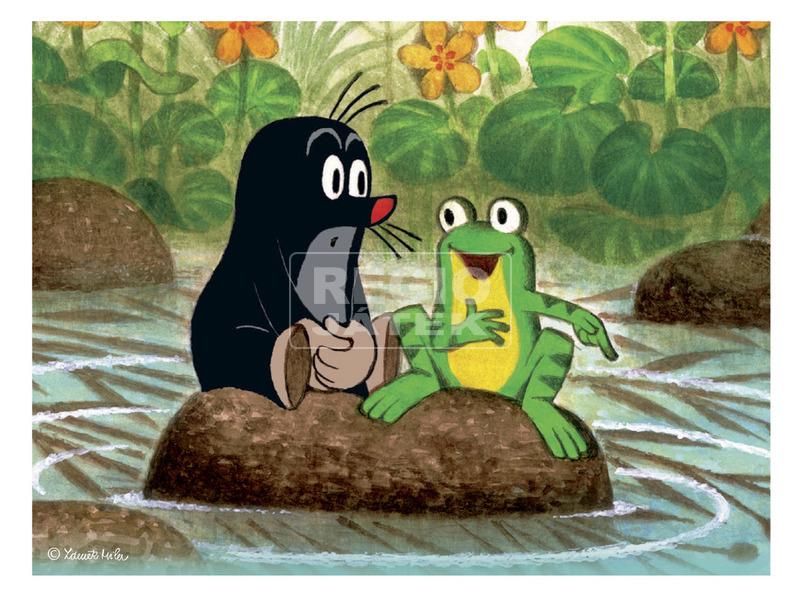 kép nagyítása Kisvakond és a madár 12 darabos fa mesekocka