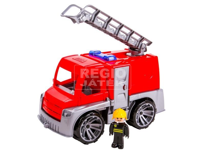 Műanyag tűzoltó teherautó - 28 cm