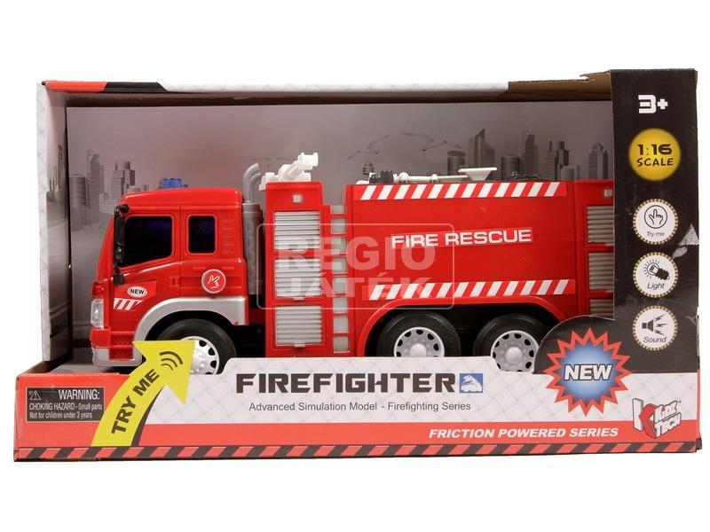 Fecskendős tűzoltóautó fénnyel és hanggal - 1:16