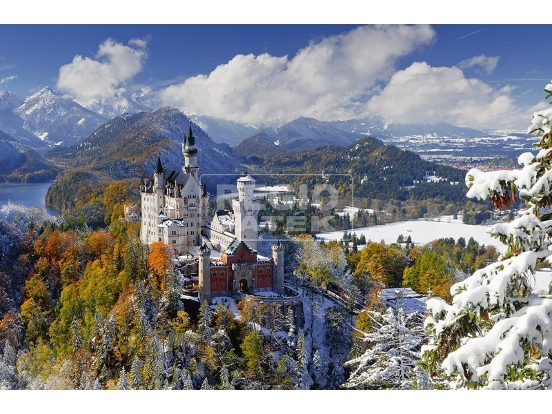 kép nagyítása Neuschwanstein-i kastély 3000 darabos puzzle