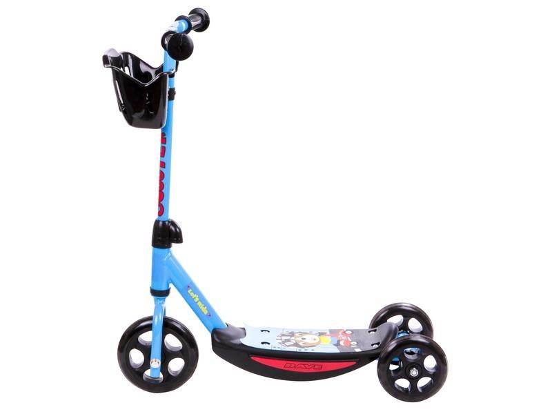kép nagyítása Háromkerekű roller kosárkával - kék színű