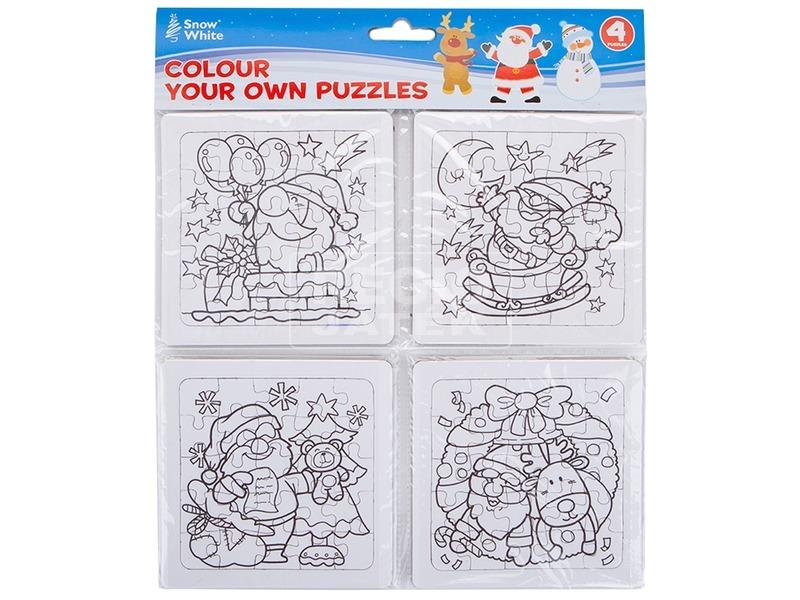 Karácsonyi színező puzzle - többféle