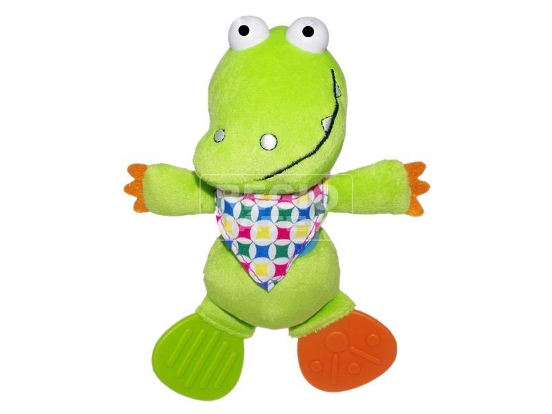 Krokodil bébi rágóka plüssfigura