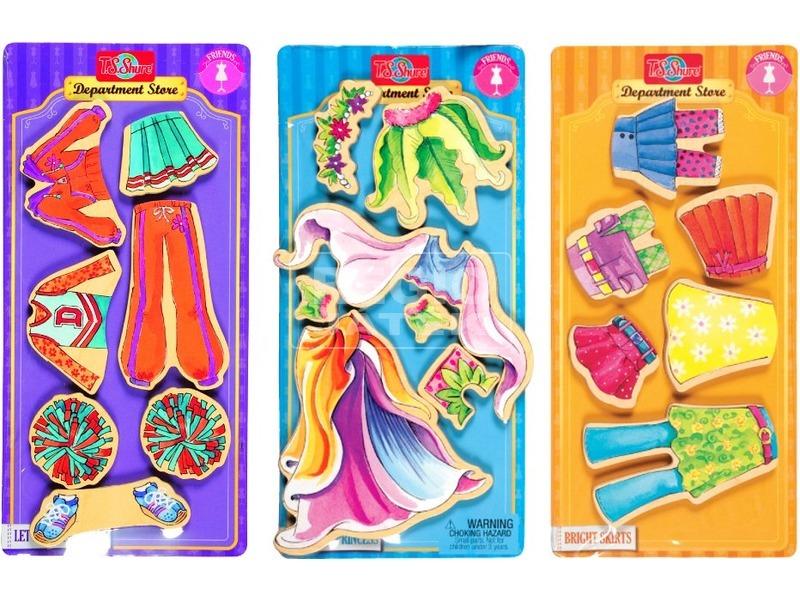 Pompom lány képkirakó ruha készlet - nagy