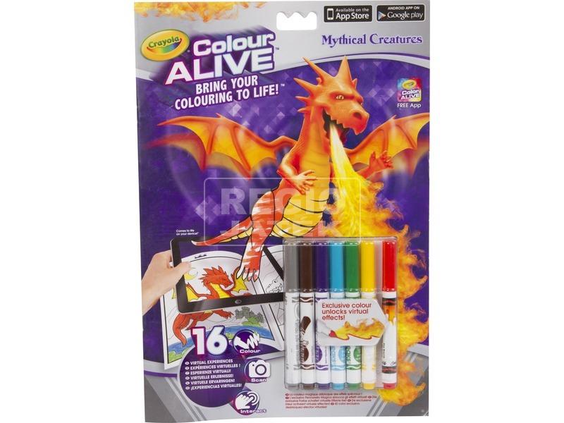 Crayola: sárkányok és kastélyok kifestő füzet filctollakkal