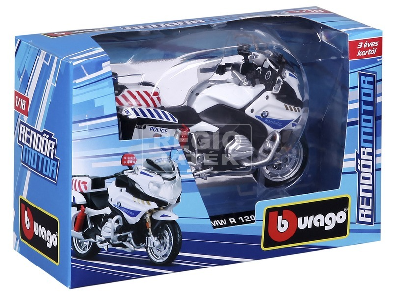 kép nagyítása Bburago Magyar Rendőrmotor BMW R1200RT 1:18