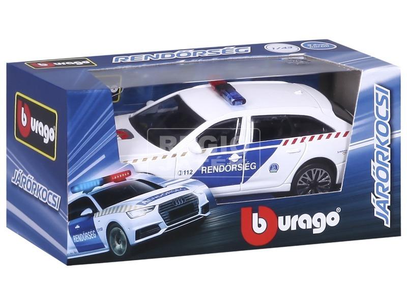 kép nagyítása Bburago Magyar Rendőrautó Audi A6 Avant 1:43