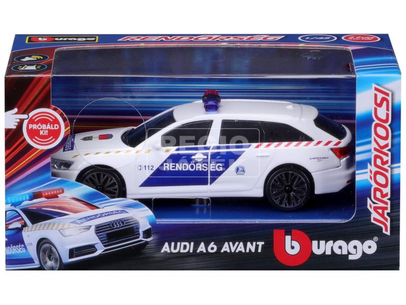 Bburago 1 /43 Audi A6 szirénázó magyar rendőrautó