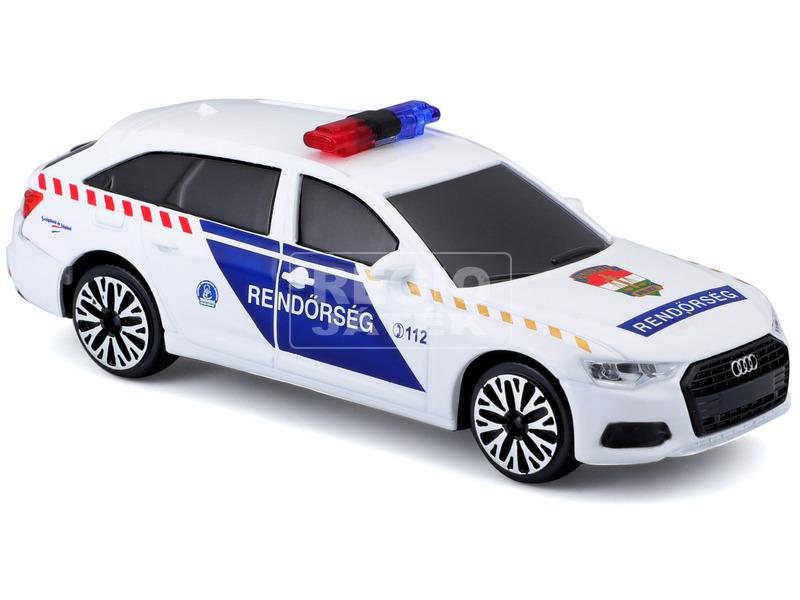 kép nagyítása Bburago 1 /43 Audi A6 szirénázó magyar rendőrautó