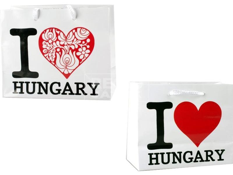 I Love Hungary ajándéktáska - 11 x 14 cm