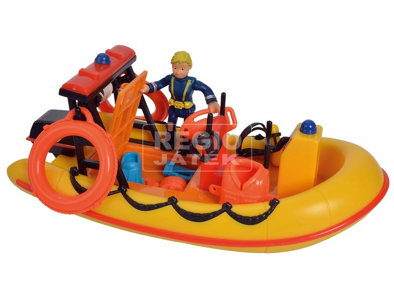 kép nagyítása Sam a tűzoltó Neptun motorcsónak figurával