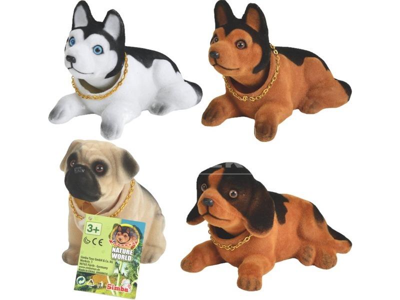Bólogató kutya figura - 15 cm, többféle
