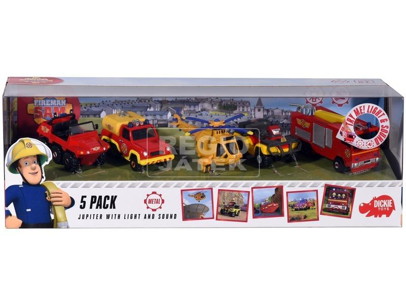 Sam a tűzoltó jármű 5 darabos készlet - 1:64