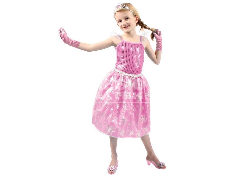 kép nagyítása Jéghercegnő jelmez - rózsaszín, 3-7 éves