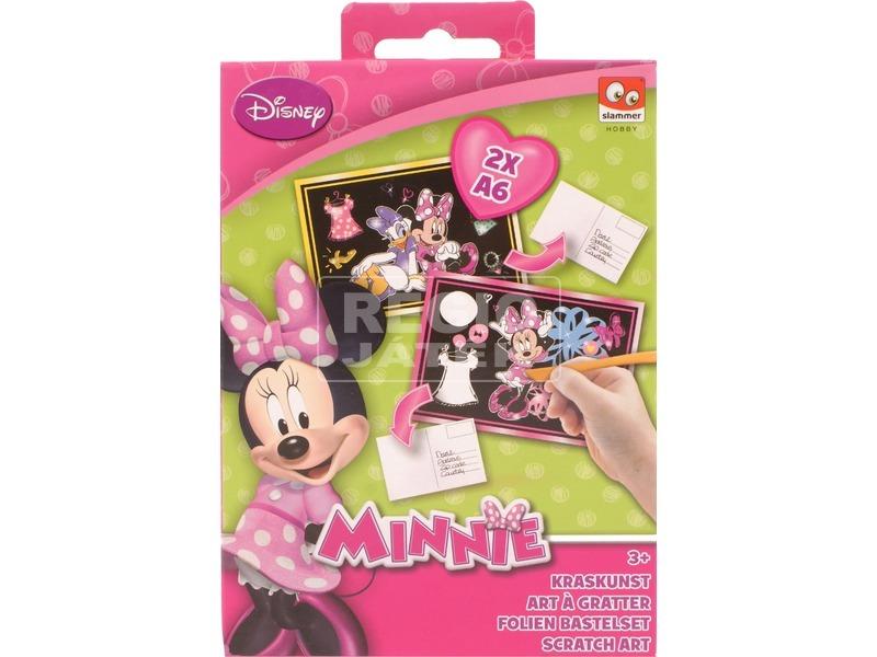 Minnie egér képkarcoló készlet