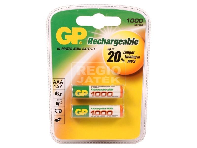 GP Ni-MH tölthető AAA ceruzaelem 1000 mAh 2 darabos készlet