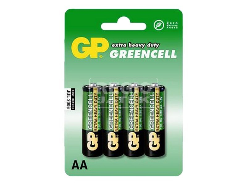 GP Greencell AA ceruzaelem 4 darabos készlet fóliában