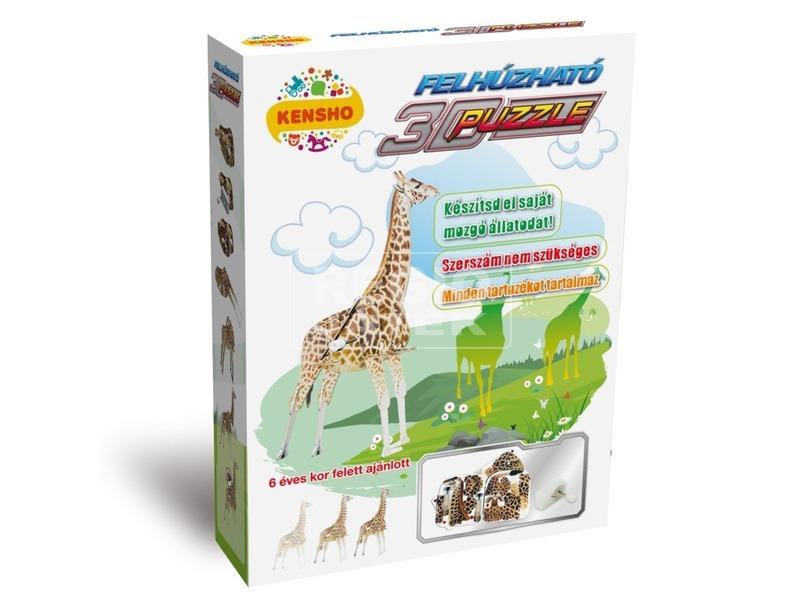 Zsiráf felhúzós 3D puzzle