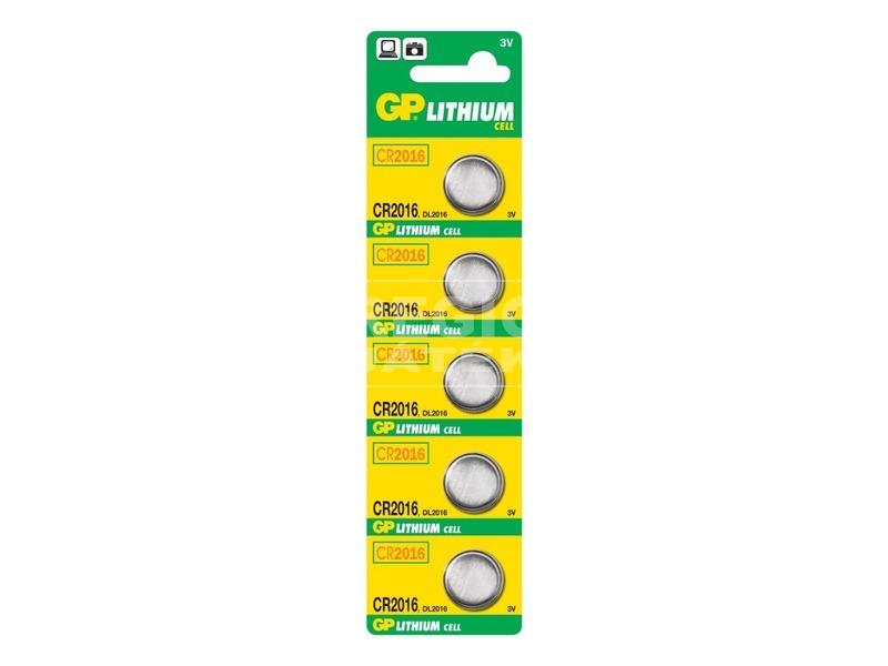 GP Lithium CR2016 gombelem