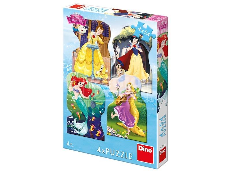 Puzzle 4x54 db - Hercegnők