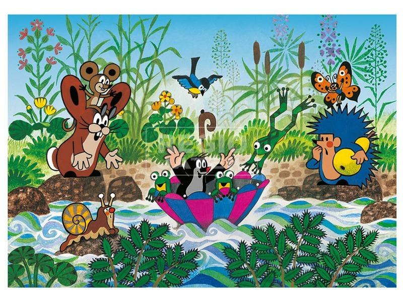 kép nagyítása Puzzle 100 db XL - Kisvakond vitorlázik