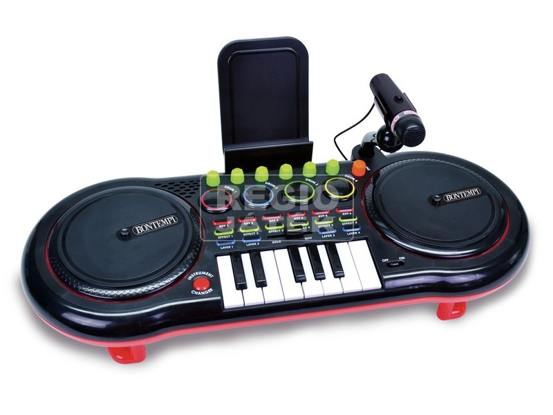 kép nagyítása DJ keverőpult mikrofonnal