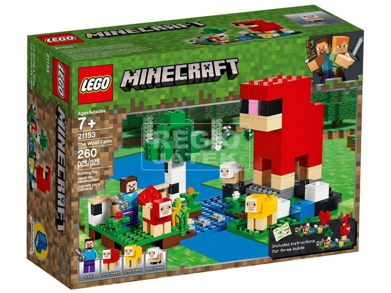 LEGO® Minecraft gyapjúfarm 21153