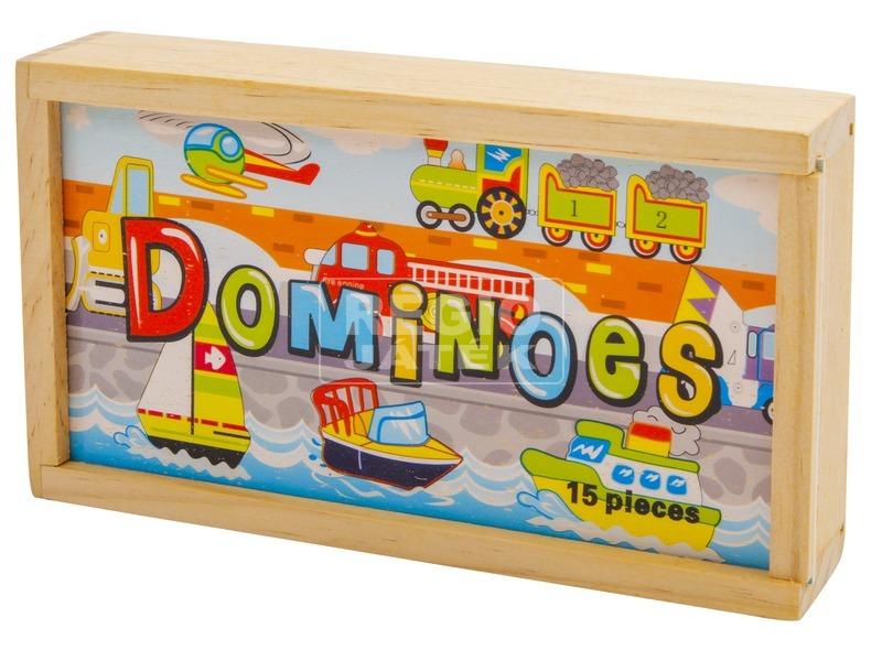 kép nagyítása Fa dominó