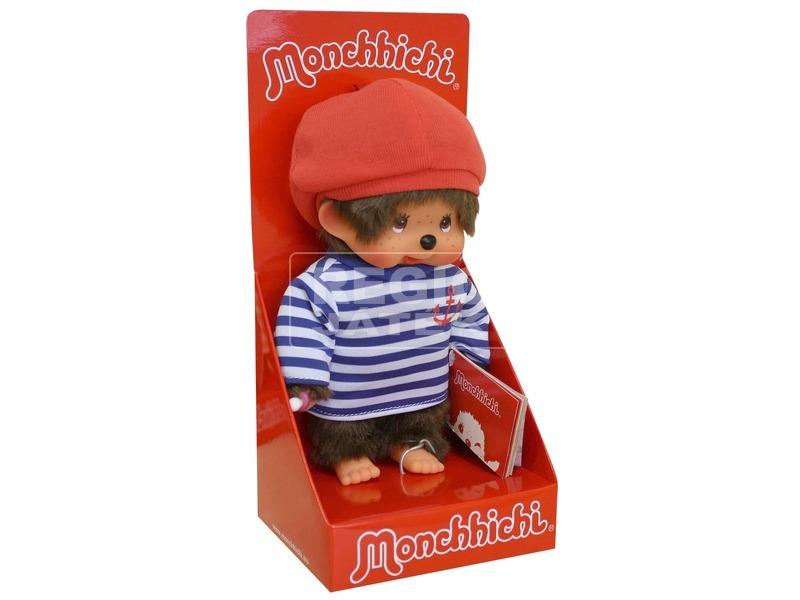 Monchhichi fiú figura tengerész ruhában - 20 cm